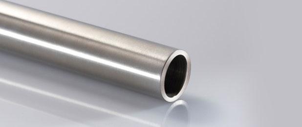 Tubo de aço inox escovado