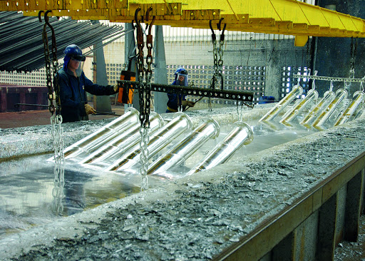 Processo de fabricação de tubos galvanizados