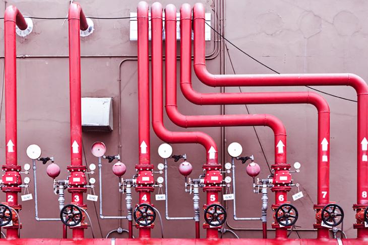 Qual o tubo recomendado para uma rede de incêndio?